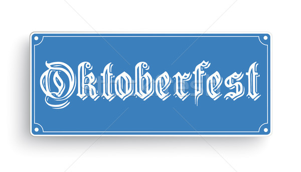 Signo oktoberfest blanco azul texto eps Foto stock © limbi007