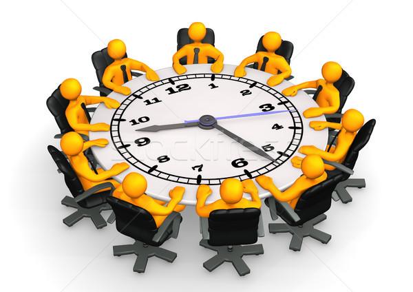 Clock Conference Table Stock photo © limbi007