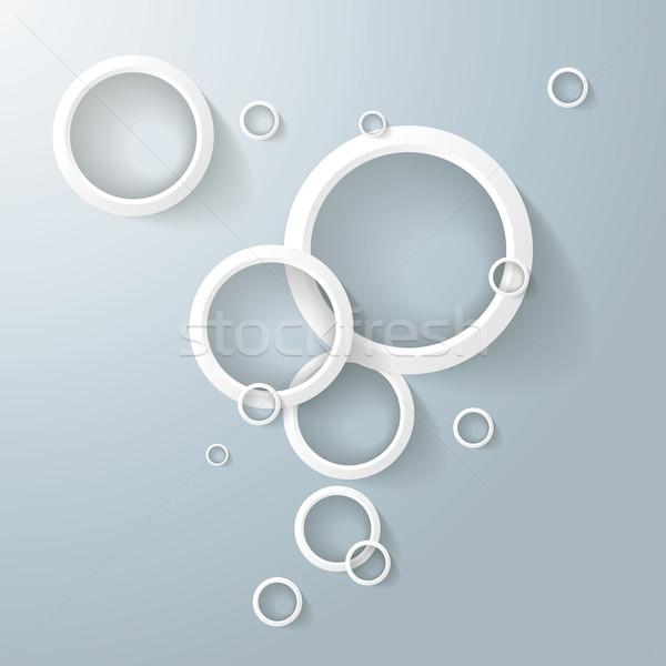 Resumen blanco anillos burbujas anillo oscuridad Foto stock © limbi007