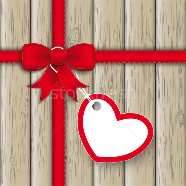 Red Ribbon Ash Heart Wood Stock photo © limbi007