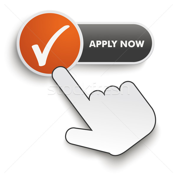 Apply Now Button Hand Cursor Stock photo © limbi007