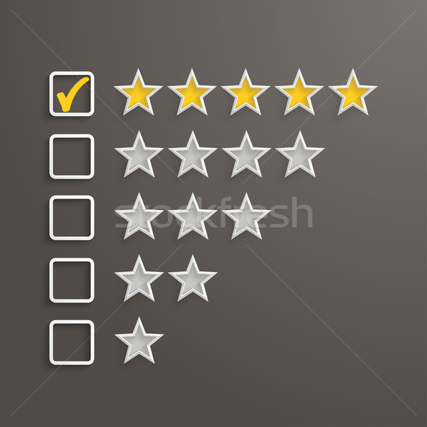 5 Stars Rating Stock photo © limbi007
