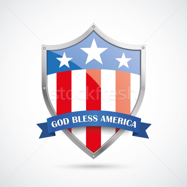 Abstract US Flag Protection Shield Stock photo © limbi007