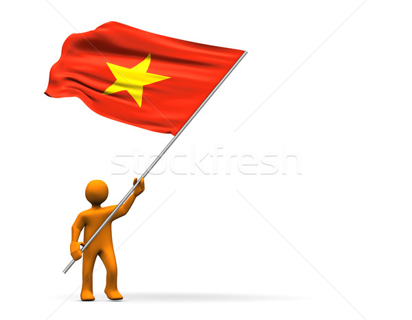 Viêt-Nam fan illustration grand pavillon Photo stock © limbi007