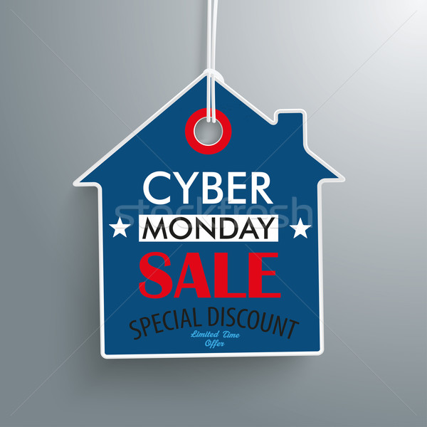Cyber Monday House Price Sticker Stock photo © limbi007