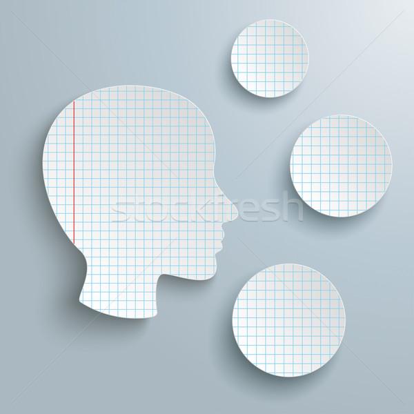 Human Head Checked Paper 3 Circles Stock photo © limbi007