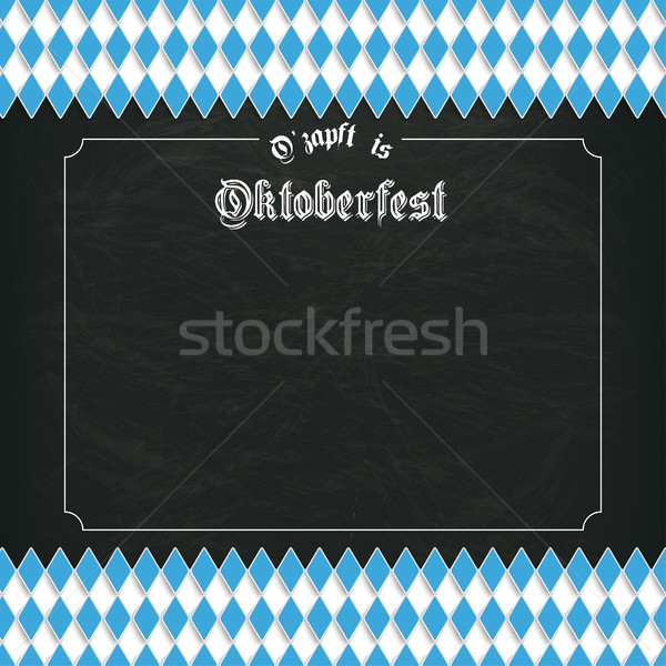 Oktoberfest Blackboard Centre Bavarian Stock photo © limbi007