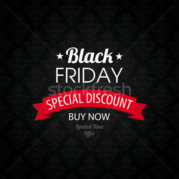 Black friday cobrir fita papel de parede texto Foto stock © limbi007
