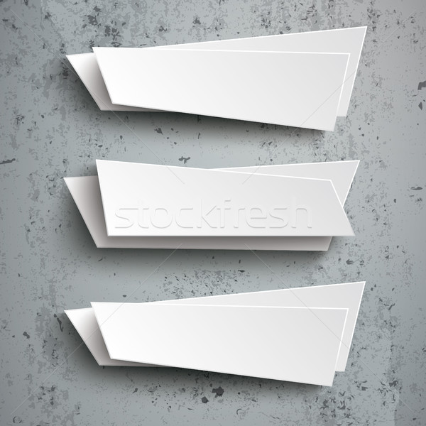 3 Abstract Banners Concrete Stock photo © limbi007