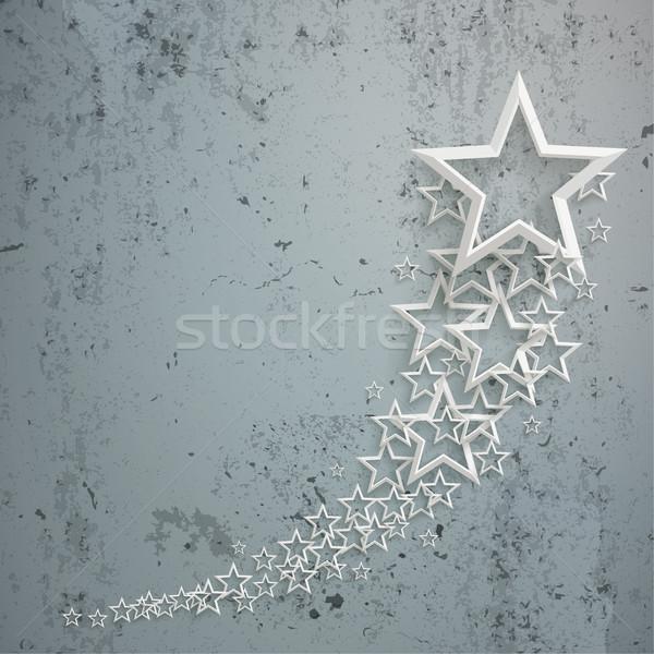 White Stars Dust Chart Concrete Stock photo © limbi007