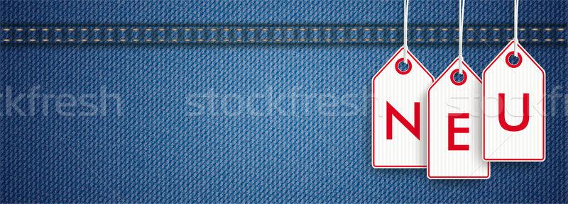 Stock photo: Jeans Header Price Stickers Neu