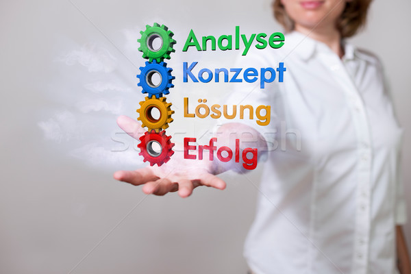 Woman Analyse Konzept Loesung Erfolg Stock photo © limbi007