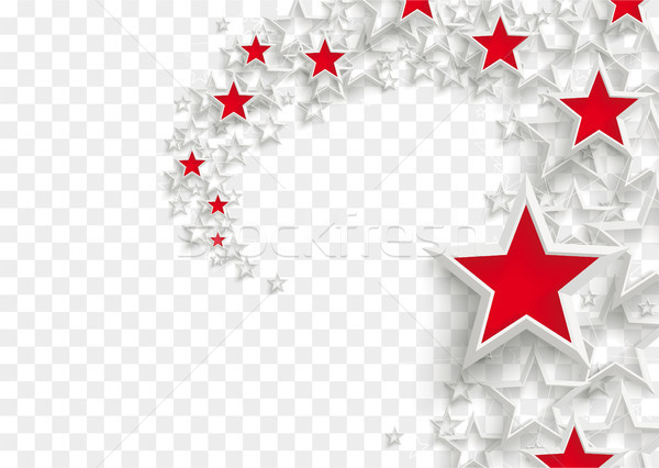 White Stars Red Stardust Transparent Stock photo © limbi007
