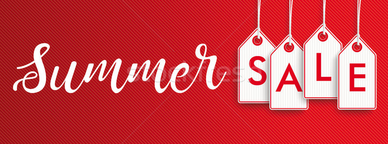 Hanging Price Stickers Summer Sale Header Stock photo © limbi007