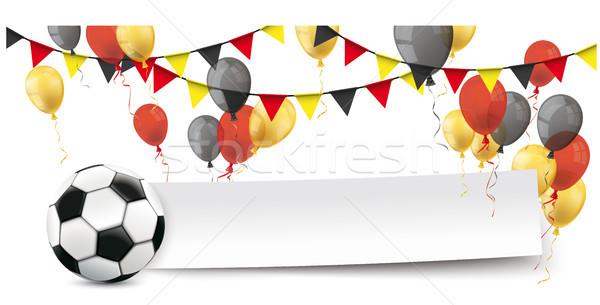 Papel bandeira balões Alemanha futebol cores Foto stock © limbi007