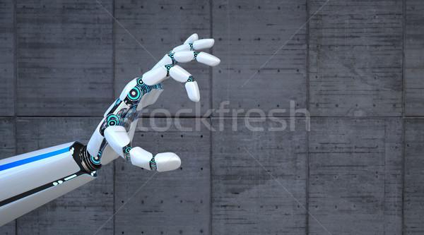 робота стороны сцепления конкретные 3d иллюстрации промышленности Сток-фото © limbi007