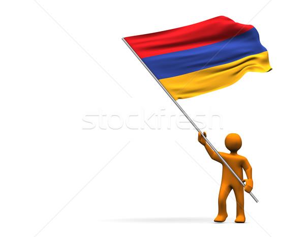 ファン アルメニア オレンジ 漫画 ビッグ フラグ ストックフォト © limbi007