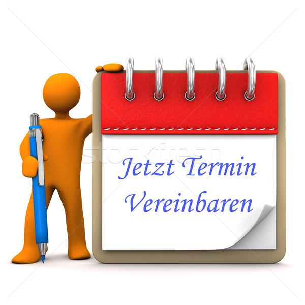 Nomeação laranja bloco de notas azul texto Foto stock © limbi007