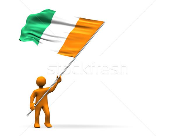 Elefántcsontpart ventillátor illusztráció külső nagy zászló Stock fotó © limbi007