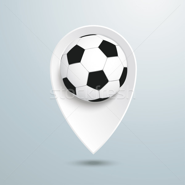 Location Marker Football Stock photo © limbi007