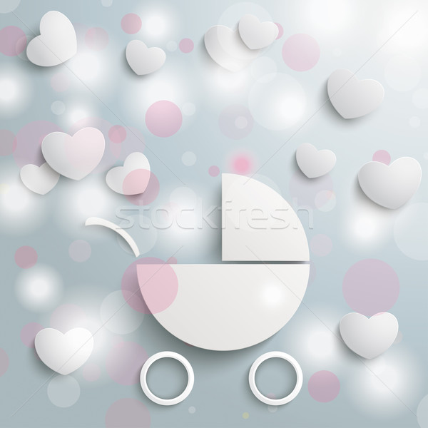 Baby Buggy Lights Hearts Stock photo © limbi007