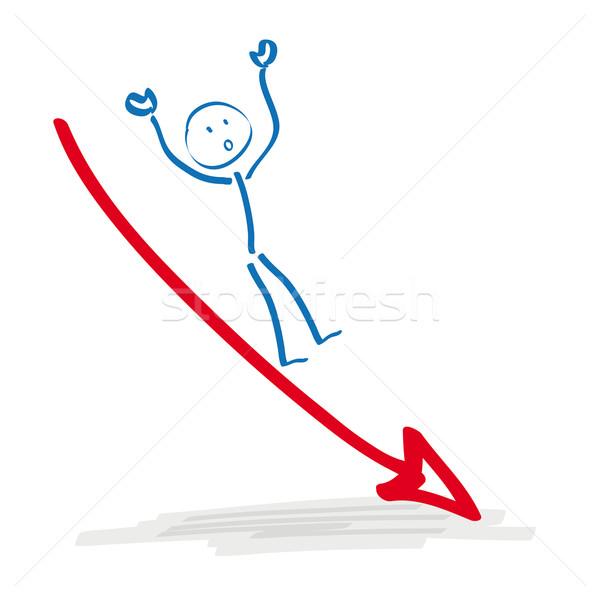 Stickman Falling Arrow Stock photo © limbi007