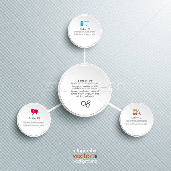 Infographic Connected Circles Stripes Background Stock photo © limbi007
