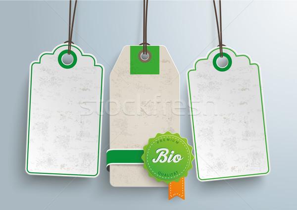 Stock fotó: ár · matricák · bio · címke · szöveg · prémium