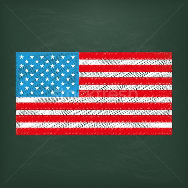 Blackboard USA Flag Stock photo © limbi007