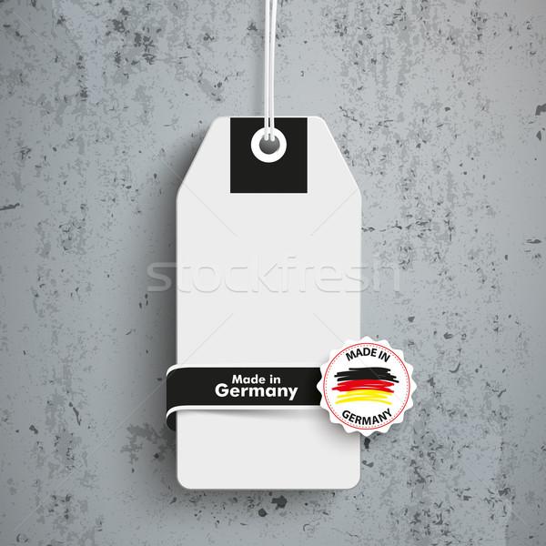 Price Sticker Label Made In Germany concrete Stock photo © limbi007