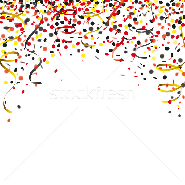 Confetti Cover German Colors Stock photo © limbi007