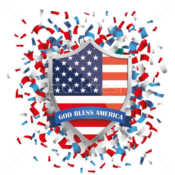 США щит конфетти белый прибыль на акцию 10 Сток-фото © limbi007