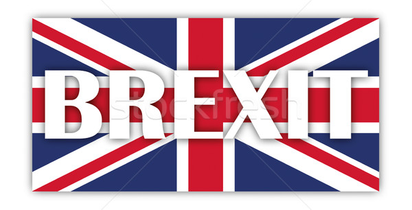 британский флаг Тени флаг Великобритания белый текста Сток-фото © limbi007