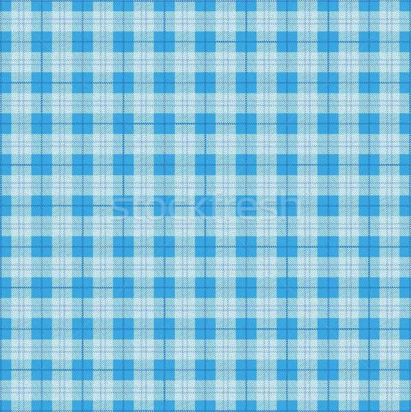 Scottish Bavarian Blue Tartan Pattern Stock photo © limbi007