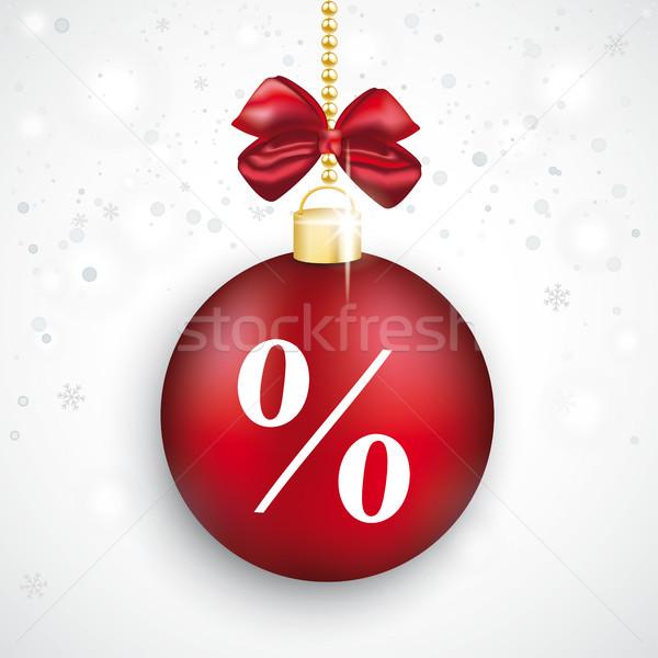 красный безделушка процент Рождества продажи белый Сток-фото © limbi007