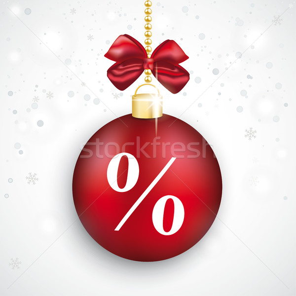 Red Bauble Percent Christmas Sale Stock photo © limbi007