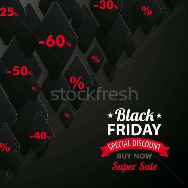 Abstract Rhombus Background Black Friday Stock photo © limbi007