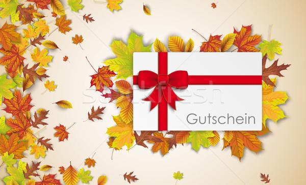 Header Gutschein Autumn Foliage  Stock photo © limbi007