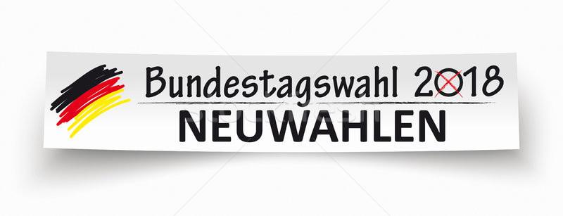 Paper Banner Bundestagswahl Neuwahlen 2018 Stock photo © limbi007