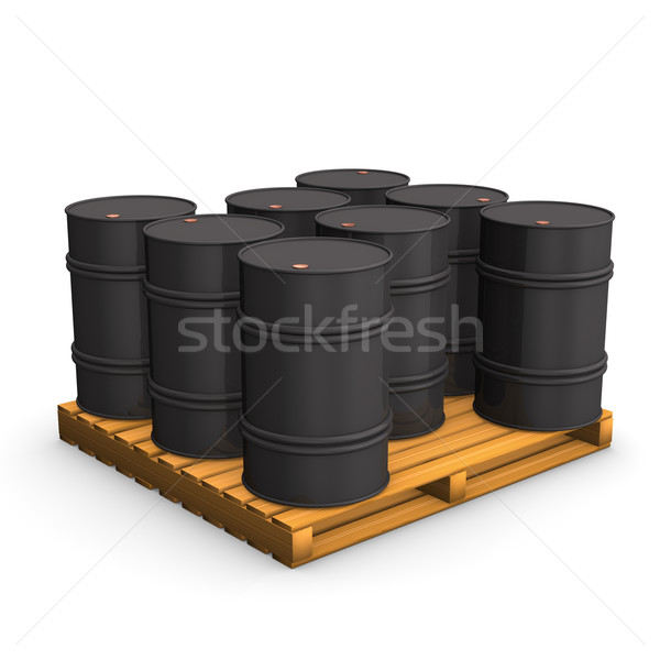 Pallet Oil Barrel  Stock photo © limbi007