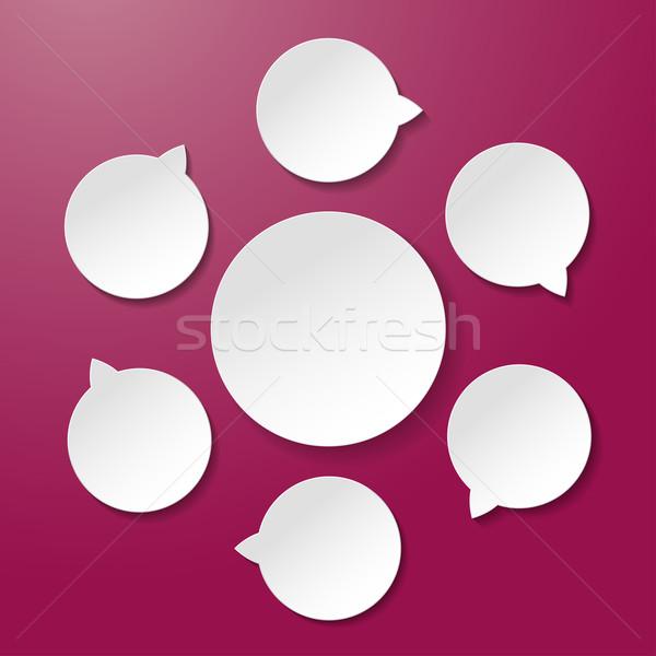 шесть пусто Жизненный цикл Purple бумаги Этикетки Сток-фото © limbi007