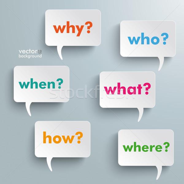 Question Speech Bubbles Stock photo © limbi007
