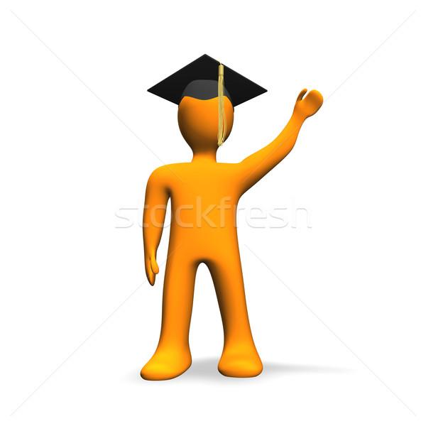 Narancs diplomás iskola művészet érettségi jövő Stock fotó © limbi007