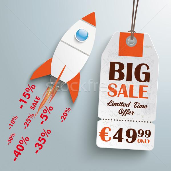 Cohete venta precio etiqueta plata eps Foto stock © limbi007