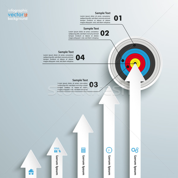 Target pijlen grafiek witte grijs eps Stockfoto © limbi007