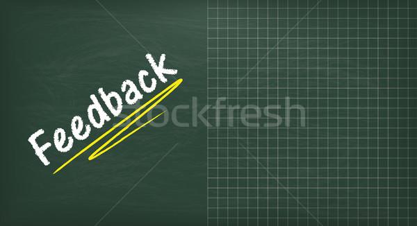 Tablicy sprzężenie zwrotne kopia przestrzeń zielone tekst eps Zdjęcia stock © limbi007