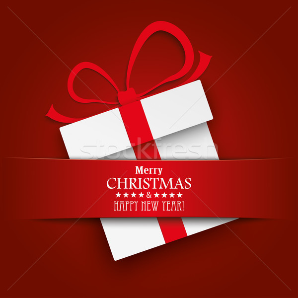 クリスマス ギフト カートン 赤 バナー 白 ストックフォト © limbi007