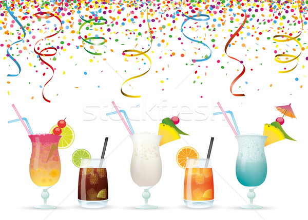Confetti Cocktails Stock photo © limbi007