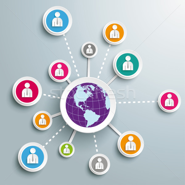Business Global Social Network Stock photo © limbi007