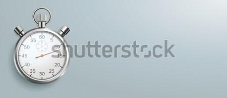Stopwatch Gray Background Header Stock photo © limbi007